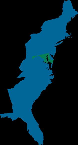 Eastern shoreline